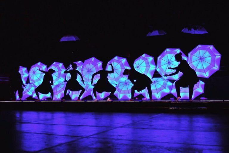 Diwali umbrella dancing