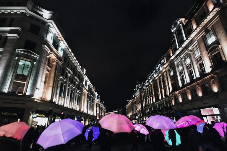 The Umbrella Project at Lumiere London