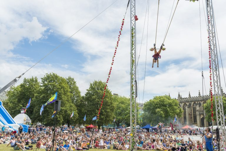Circus Playground at Bristol Harbour Festival 21 & 22 July