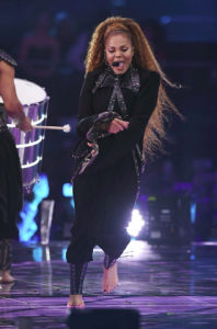 Janet Jackson performs on stage at the MTV Music Awards, Bilbao.